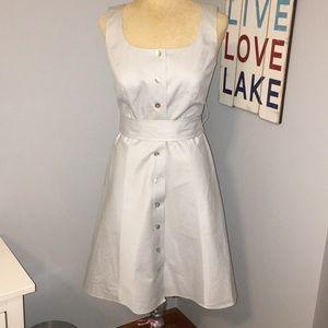 Talbots petite sleeveless pinstripe a-line dress